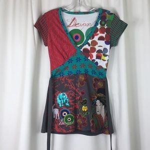 Desigual Tops - Desigual, short sleeve, tunic, S, EUC.